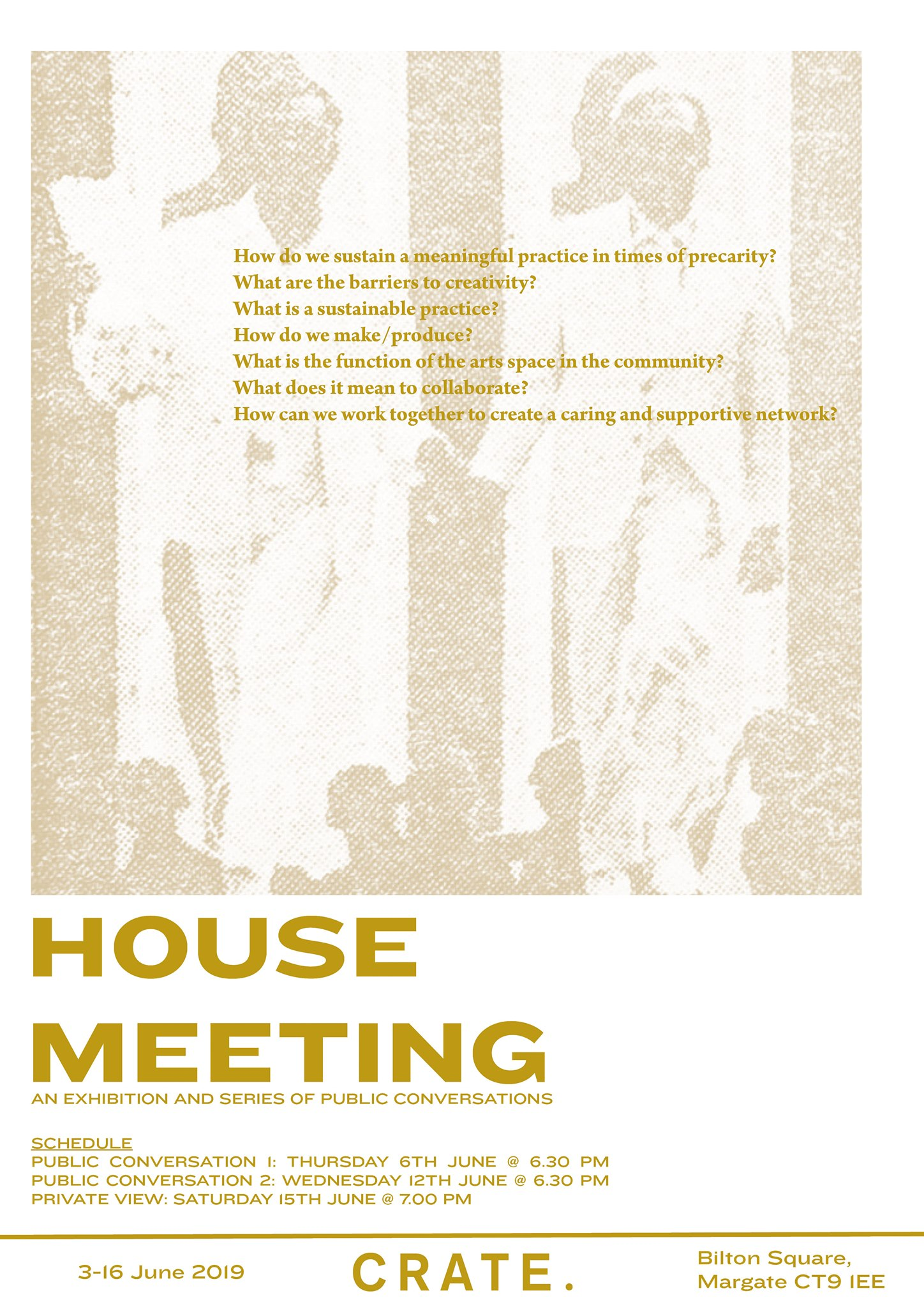 House Meeting poster.